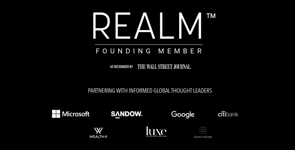 The Wall Street Journal Recognizes Accomplished Real Estate Professionals of Realm Global. Founding Members, Valia Pr...