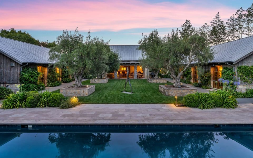 In California's Sonoma Valley, a Modern Farmhouse With a Speakeasy Asks $16.7 Million