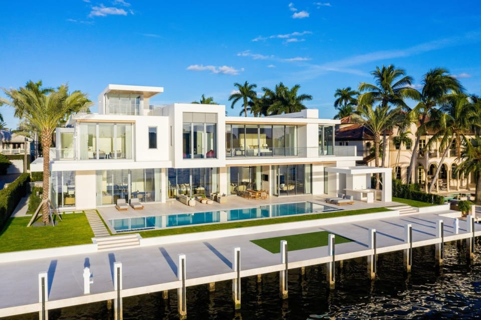 Fort Lauderdale Spec Home With Space for a Yacht Sells for $23 Million