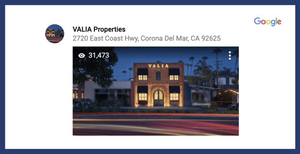 Thank You for Over 30,000 Views of Valia Properties on Google