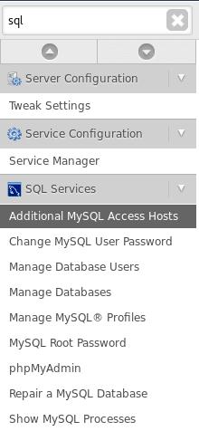 WHM - Remote MySQL List