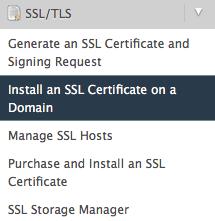 Install an SSL Certificate on a Domain