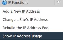 Show IP Address Usage