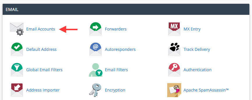 Get email connection information in cPanel
