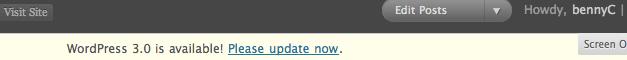 "WordPress ""Upgrade Now"""