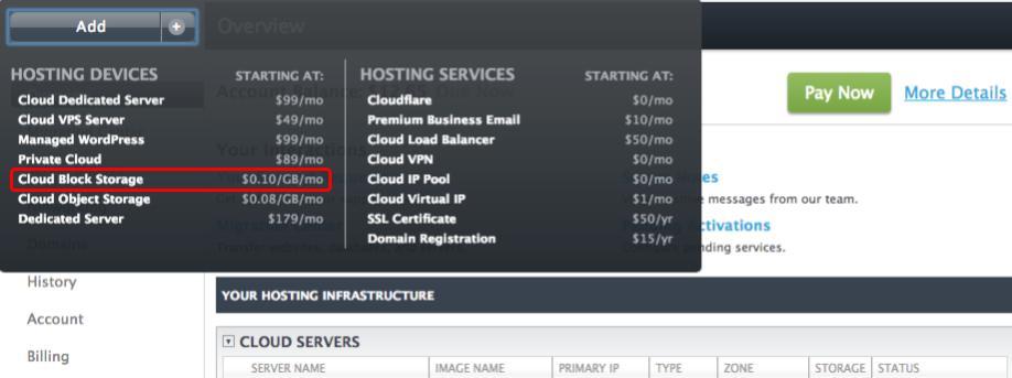 Cloud Block Storage is just $0.10/GB/mo at Liquid Web.