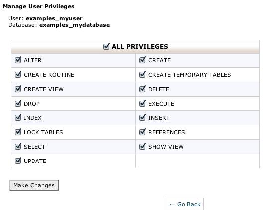 Add MySQL User Privileges