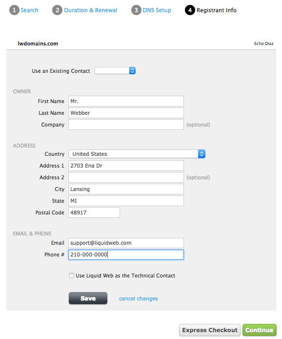 The registrant info will appear in the WHOIS website if the privacy option is not selected.