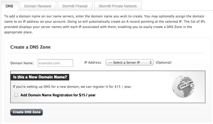Register a new domain from manage.liquidweb.com