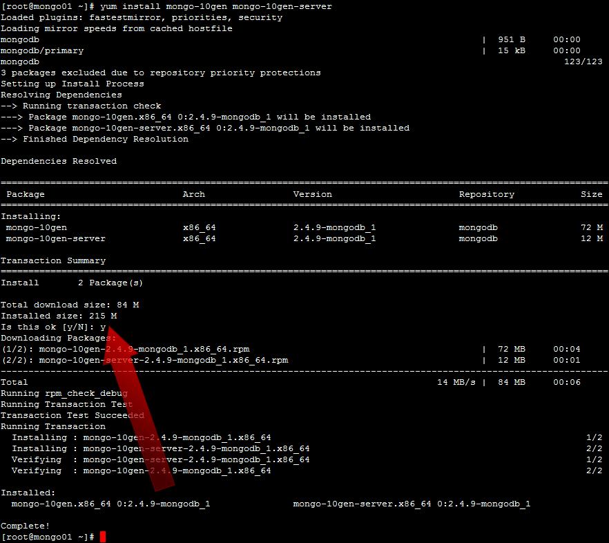 How To Install MongoDB on CentOS 6 - 02