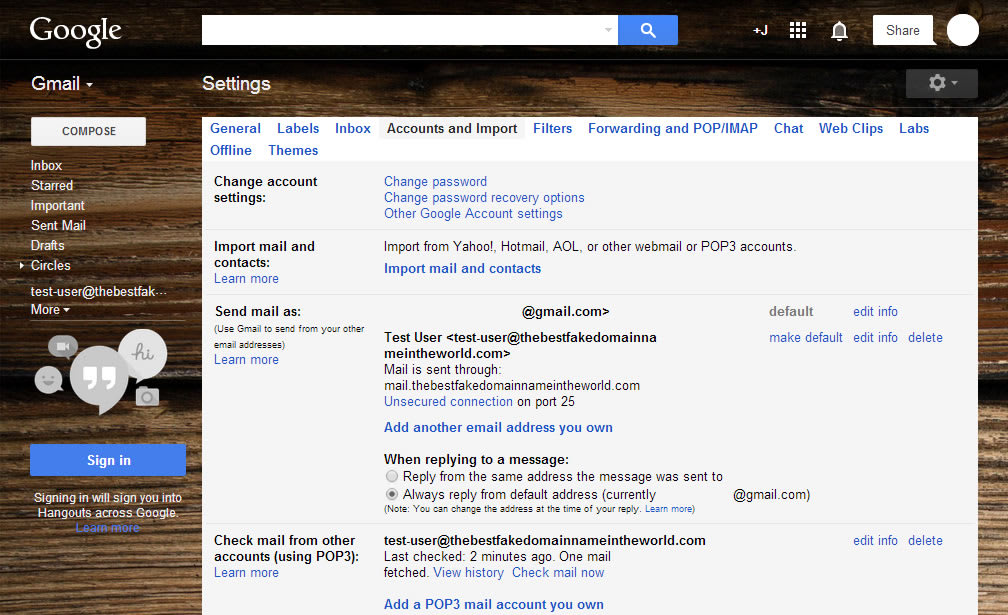 How To Check POP3 Email with Gmail - 11