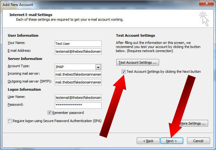 How To Setup Email on Microsoft Outlook - 07a