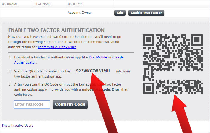 How to Enable Two-factor Authentication (2FA)