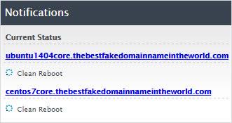 Server reboot status
