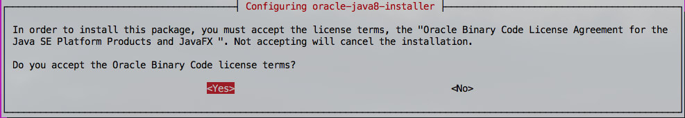 Oracle Java License Screen