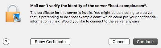 OSX 10.11 Self-signed SSL Certificate Notice