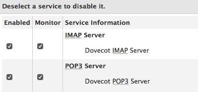 cPanel service monitoring