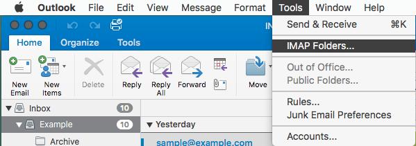Outlook2016MacIMAP