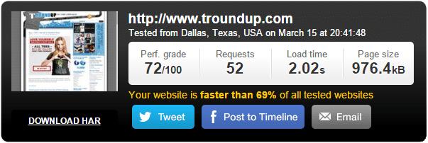 Testing WordPress Page Load Time Before Optimization