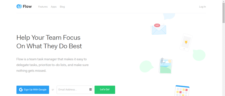 Flow, a project management tool
