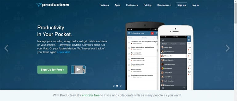 Producteev - a project management software for agencies