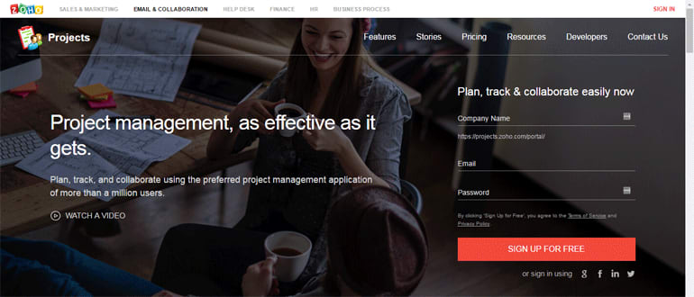Zoho Projects, an online project management tool