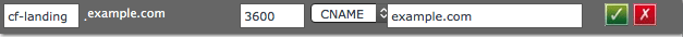 Add a CNAME DNS record for CloudFlare