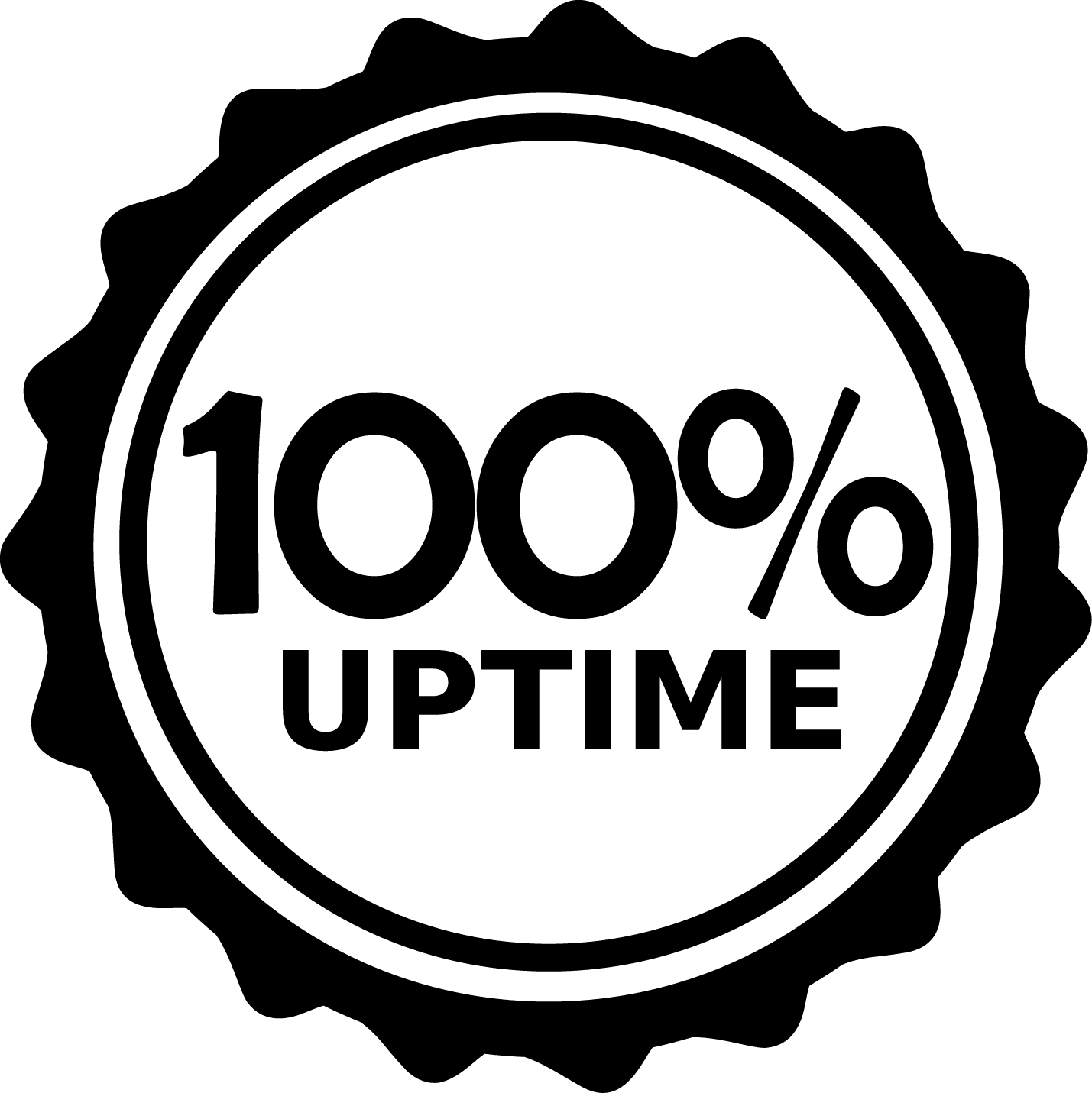 100 Percent Network Uptime Guarantee