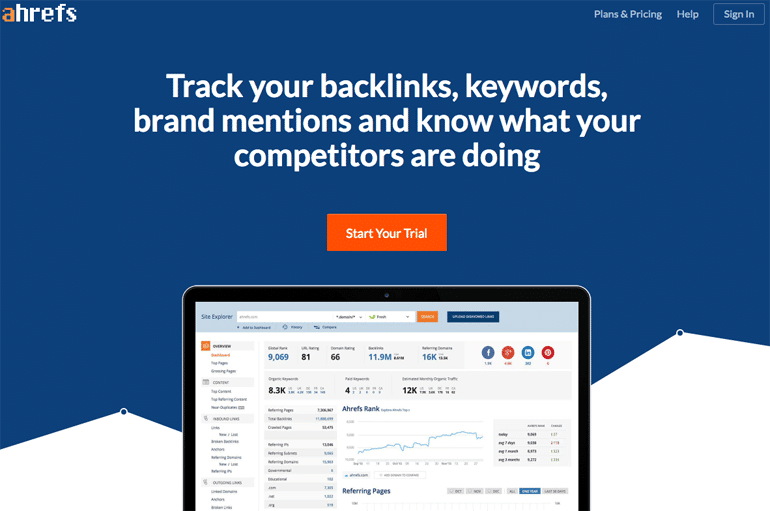 Ahrefts - Backlink Tracking Tool