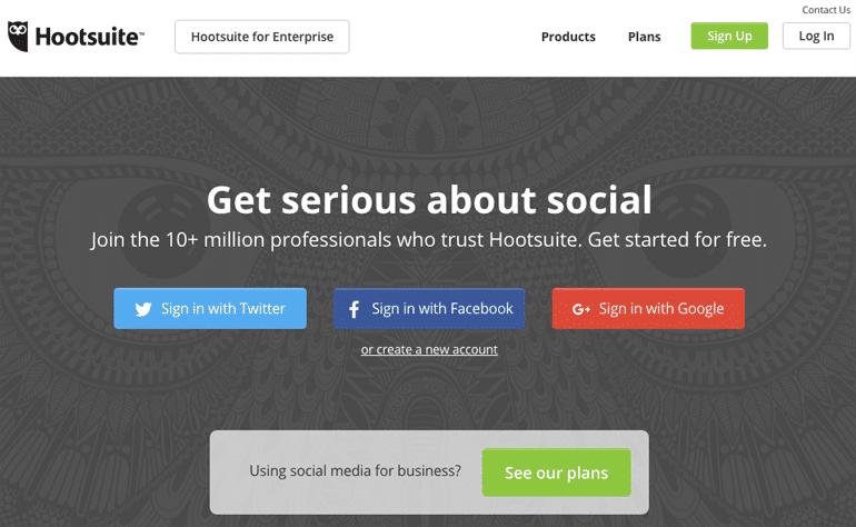 Hootsuite - Social Media Tracking Tool