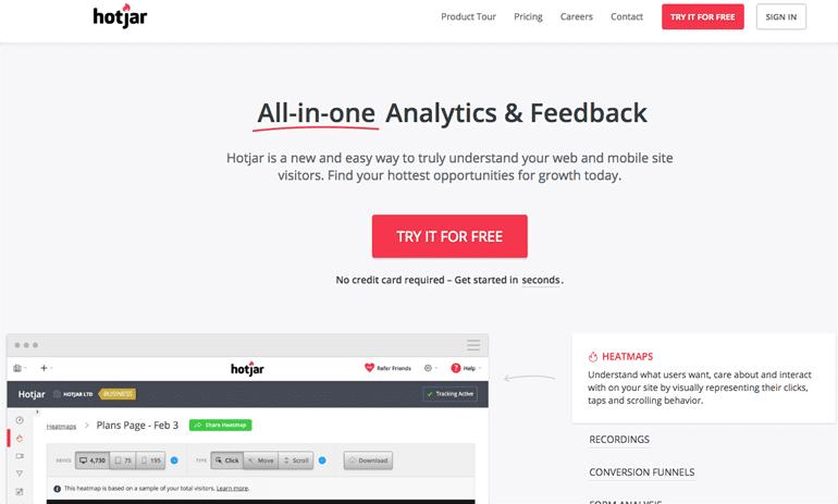 Hotjar Website Tracking Tool
