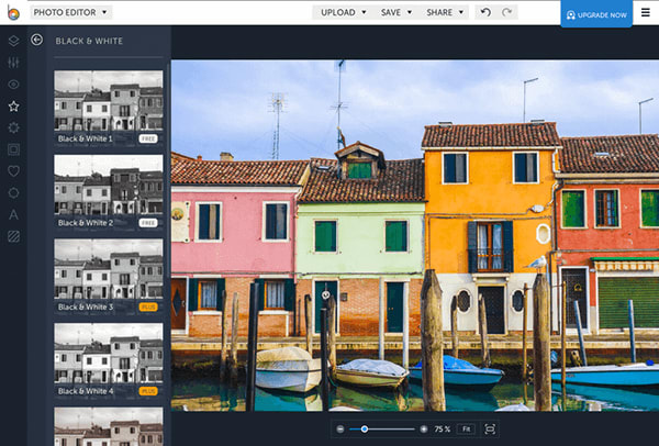 With BeFunky, you can layer images, add text, apply filters and more.