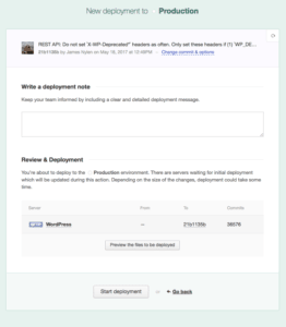 DeployBot completed configuration page