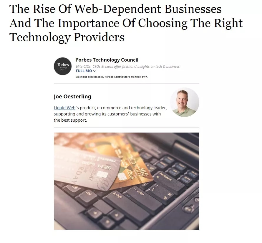 Liquid Web in Forbes
