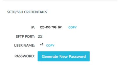 SFTP/SSH Credentials Section