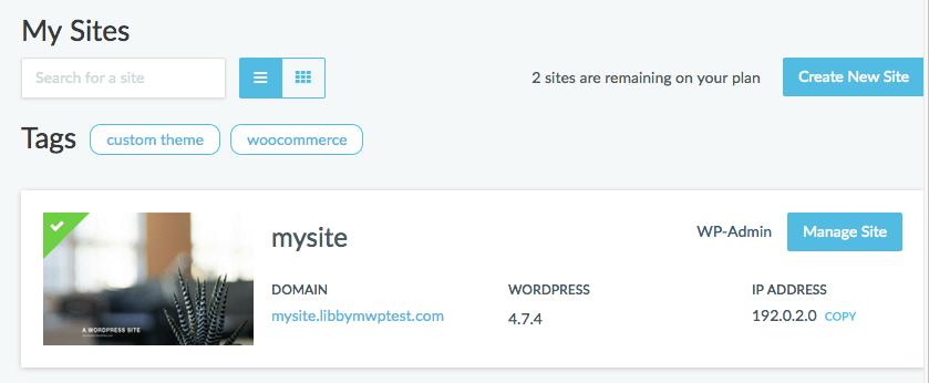 Managed WordPress Portal