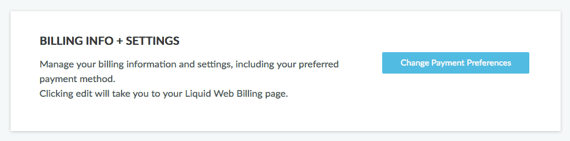 Billing Info and Settings