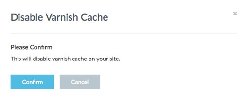 Confirm varnish cache disable