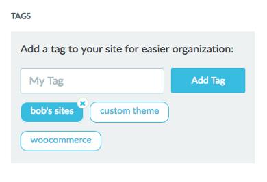 click the tag to delete