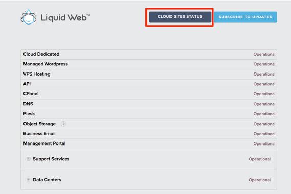 Cloud Sites Statusbutton