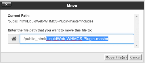 File path to move the file to
