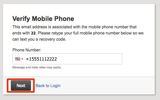 Verify Mobile phone