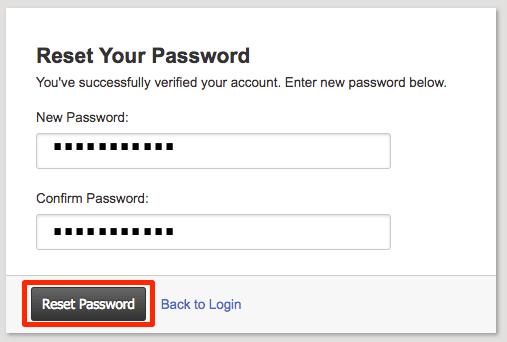 reset password button