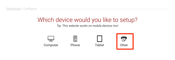 other device setup link