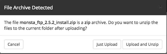 upload pop-up