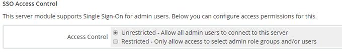 SSO Access Control