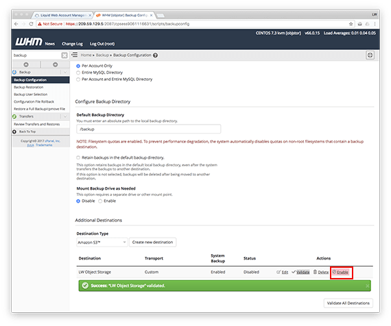 Validate link in the Object Storage