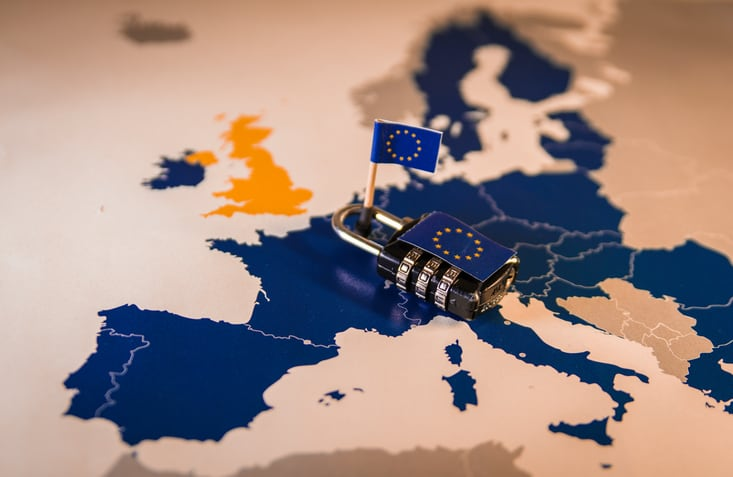GDPR Compliance - image of the countries of the EU
