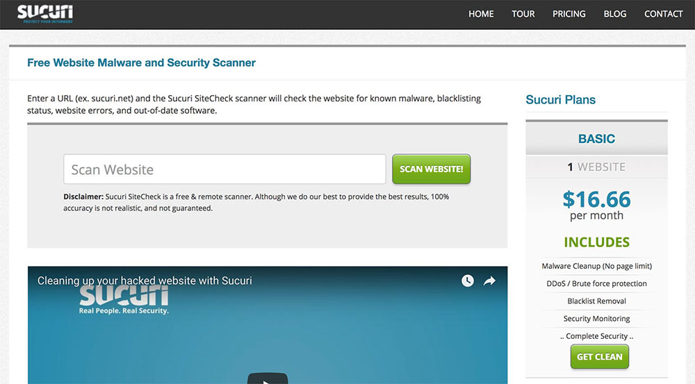 Sucuri offers free tools to scan your customers sites for malware - Liquid Web
