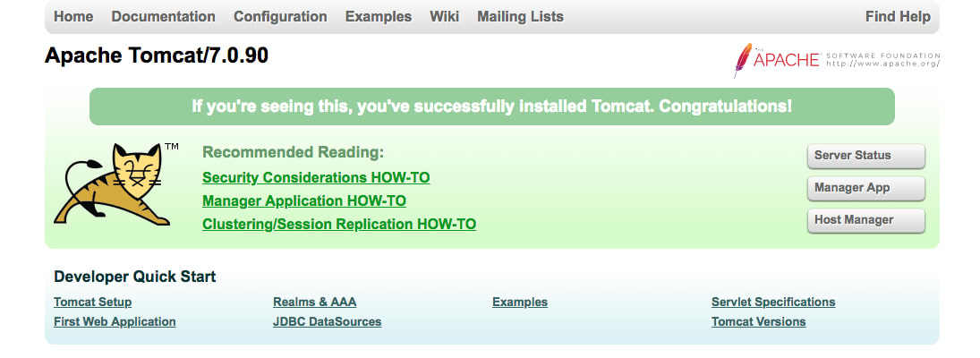 Tomcat 7.0.90 Test Page
